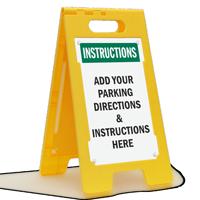 Custom Directional Parking Standing Floor Sign