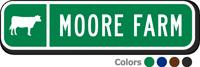 Custom Reflective Keepsake Sign, with Cow Clipart