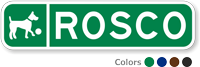 Custom Reflective Keepsake Sign, with Dog Clipart