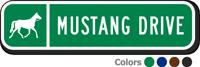Custom Reflective Keepsake Sign, with Horse Clipart