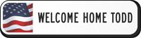 Custom Reflective Keepsake Sign, with USA Flag Clipart