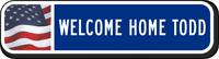 Custom Reflective Keepsake Sign, with USA Flag Background