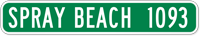 Custom Spray Beach 1093 City Sign