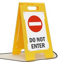 Do Not Enter Fold-Ups® Floor Sign