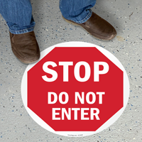 Do Not Enter Stop Floor Sign