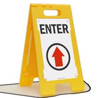 Enter (Up Arrow) Fold-Ups® Floor Sign