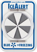 IceAlert Indicator Slip And Fall Pedestrian Safety Sign
