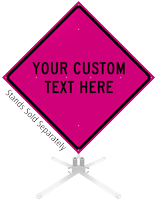 Custom Pink Roll-Up Sign