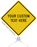 Custom Yellow Roll-Up Sign
