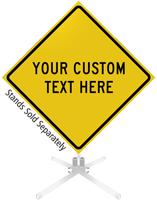 Custom Yellow Roll-Up Sign