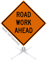 Road Work Ahead Roll-Up Sign