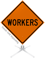 Workers Roll-Up Sign