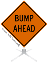 Bump Ahead Roll-Up Sign