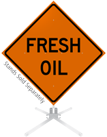 Fresh Oil Roll-Up Sign