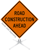 Road Construction Ahead Roll-Up Sign
