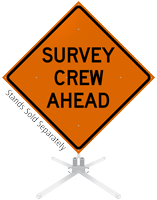 Survey Crew Ahead Roll-Up Sign