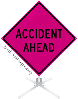Accident Ahead Roll-Up Sign