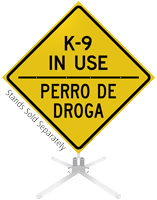K-9 In Use Roll-Up Sign