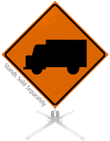 Truck Symbol Roll-Up Sign