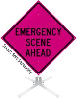 Emergency Scene Ahead Roll-Up Sign