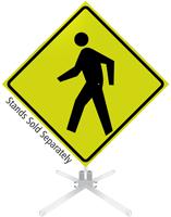 Pedestrian Crossing Symbol Roll-Up Sign