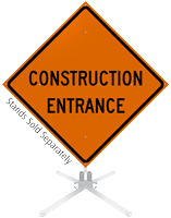Construction Entrance Roll-Up Sign