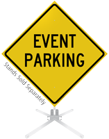 Event Parking Roll-Up Sign