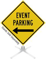 Event Parking Left Arrow Roll-Up Sign