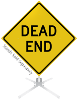 Dead End Roll-Up Sign