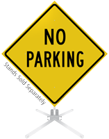 No Parking Roll-Up Sign