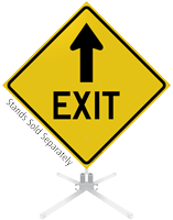 Exit Ahead Arrow Roll-Up Sign