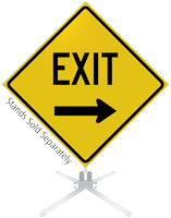 Exit Right Arrow Roll-Up Sign