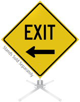 Exit Left Arrow Roll-Up Sign