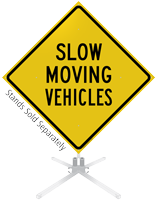 Slow Moving Vehicles Roll-Up Sign