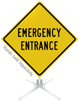 Emergency Entrance Roll-Up Sign