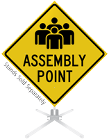 Assembly Point Roll-Up Sign