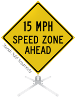 Speed Zone Ahead Roll-Up Sign