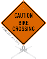 Caution Bike Crossing Roll-Up Sign