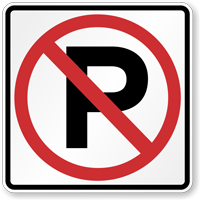 No Parking MUTCD Sign