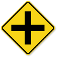 Cross Road (Symbol) - Traffic Sign
