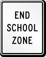 End School Zone - Traffic Sign