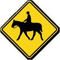Horse Symbol - Traffic Sign