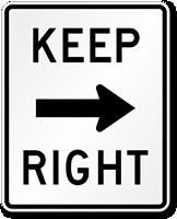 Keep Right Road Traffic Sign Symbol