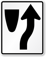 Keep Right (Symbol) Traffic Sign