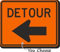 MUTCD Compliant Detour Sign with Arrow