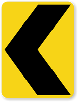 Chevron Alignment Symbol (Left) - Traffic Sign