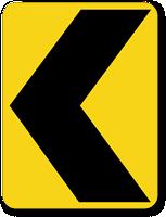 Chevron Alignment Symbol (Left) - Traffic Sign
