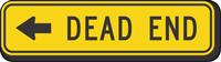 (Left Arrow Symbol) Dead End - Traffic Sign