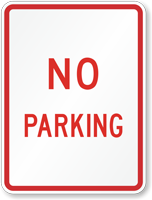 No Parking (Symbol) Road Traffic Sign