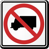 No Camper Van, Trucks Road Traffic Sign